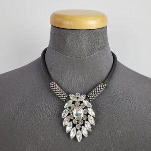 Jewelry - Black & Silver Rhinestones Statement Necklace